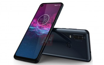 Motorola One Action leaks in Blue gradient