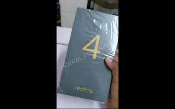Realme 4 retail box pictured