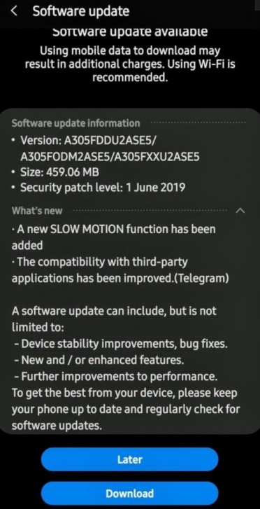 Samsung Updates Galaxy A30 With Slow Motion Video Recording