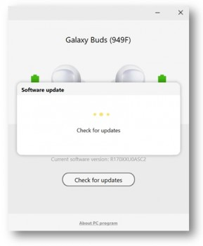 You can update Buds through your phone (Galaxy Wearable) or through the computer app