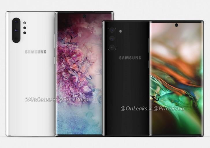 Bocoran render Samsung Galaxy Note 10