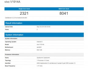 vivo IQOO Youth Edition posters and Geekbench score
