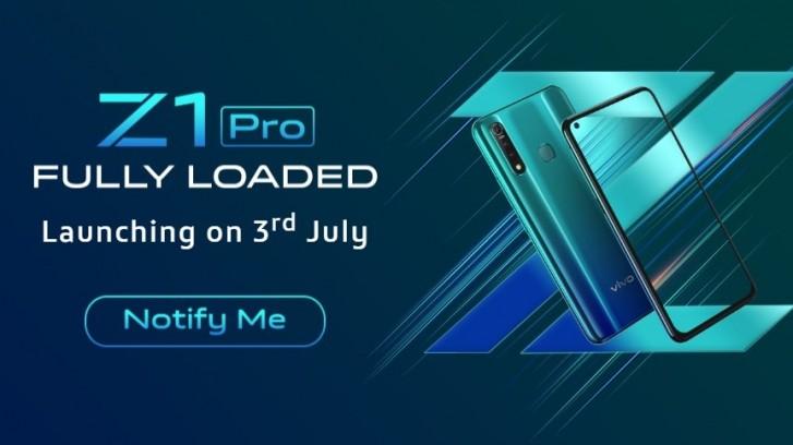 vivo Z1 Pro launch date revealed - GSMArena com news