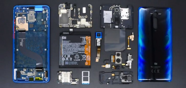 Disassembly video of Xiaomi Mi 9T shows off pop-up camera