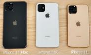 Dummy iPhone 11 trio compared in a video