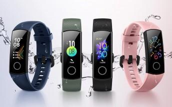 Honor Band 5 revealed, gains SpO2 sensor to track blood oxygen level
