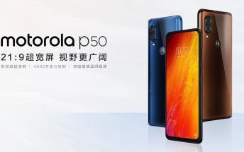 Motorola P50 goes on sale in China