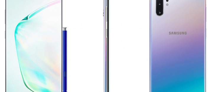 Samsung Galaxy Note10 and Note10+ press renders leak showing gradient paint job