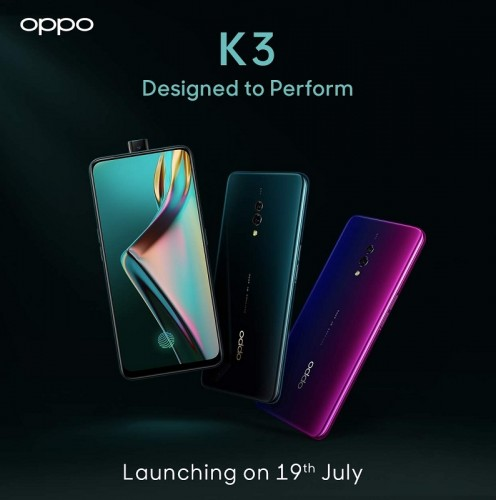Oppo K3 India launch date revealed
