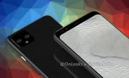 Google Pixel 4 XL renders show a classic top bezel, no notch or punch hole