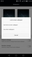 Huawei Mate S review: Lockscreen graphics controls