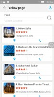 Yellow page: checking out hotels - Lenovo Vibe Shot review