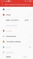 Meizu M1 Metal review: Calendar