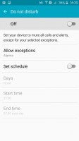Samsung Galaxy J2 review: Do not disturb mode