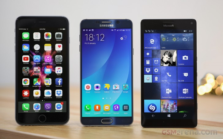IPhone 6s Plus Vs Lumia 950 XL Galaxy Note5
