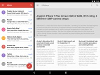 Split-screen functionality makes much more sense on tablets - Android 70 Nougat review