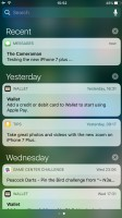 Notification Center - Apple iPhone 7 Plus review