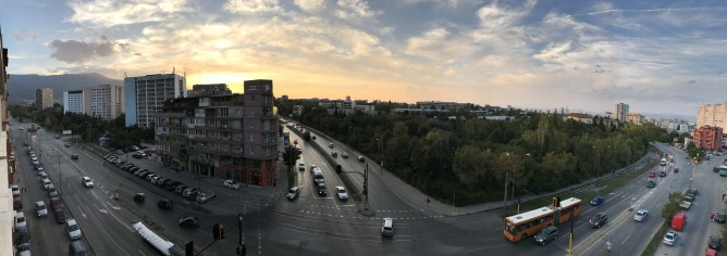 a sunset panorama - Apple iPhone 7 review