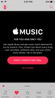 The Music app with Apple Music - Apple iPhone SE review