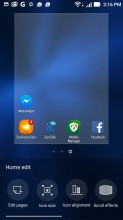 Customizing the homescreen - Asus Zenfone 3 ZE552KL review