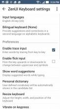 Quick settings - Asus Zenfone 3 ZE552KL review