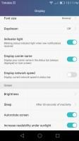 Various display settings - Huawei Honor 5x review