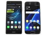 The Huawei P9 next to the Galaxy S7 - Huawei P9 review