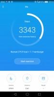 Health app homescreen - Huawei P9 review