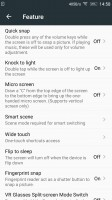 Some of the settings offered by the Vibe X3 - Lenovo Vibe X3 Hands On
