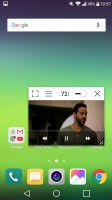 The video player supports subtitles and QSlide - LG G5 review