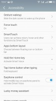 The accessibility settings - Meizu Pro 6 review