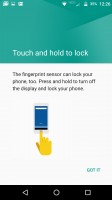 Fingerprint: Setup screens - Moto Z Droid Edition Review