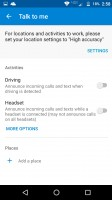 Driving options are found in the Moto Voice menu - Moto Z Droid Edition Review
