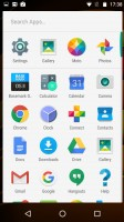 the app drawer - Motorola Moto X Force review