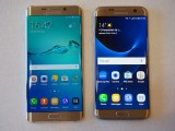 Samsung Galaxy S6 edge+ (left) and Samsung Galaxy S7 edge (right) - MWC 2016 Samsung
