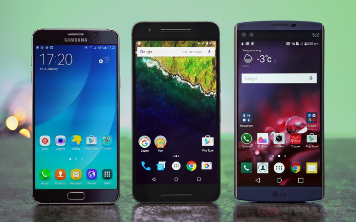 Nexus 6P vs. LG V10 vs. Galaxy Note5