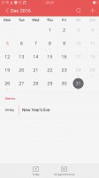 The Calendar app is a carbon copy of the iOS calendar - Oppo R9s review