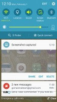 Standard notification area - Samsung Galaxy A5 (2016) review