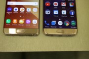 Galaxy Note7 (left) compared with the Galaxy S7 (right) - Samsung Galaxy Note7 hands-on