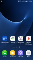 Homescreen - Samsung Galaxy S7 Active review