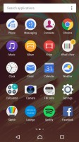 Standard app drawer - Sony Xperia E5  review