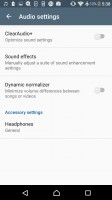 A fair amount of audio settings - Sony Xperia E5  review