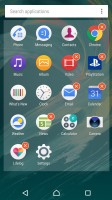 Standard app drawer - Sony Xperia X Performance review