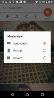The Movie Creator can automatically or manually make shareable slideshows - Sony Xperia X Performance review
