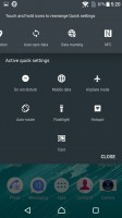 Notification area is vanilla Android - Sony Xperia X review