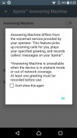 The Xperia X has a built-in answering machine - Sony Xperia X review