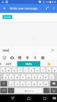 Customizeable SwiftKey keyboard - Sony Xperia X review