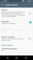 Audio settings - Sony Xperia X review