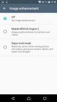 Screen settings - Sony Xperia XA Ultra review