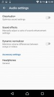 Audio settings - Sony Xperia XA Ultra review